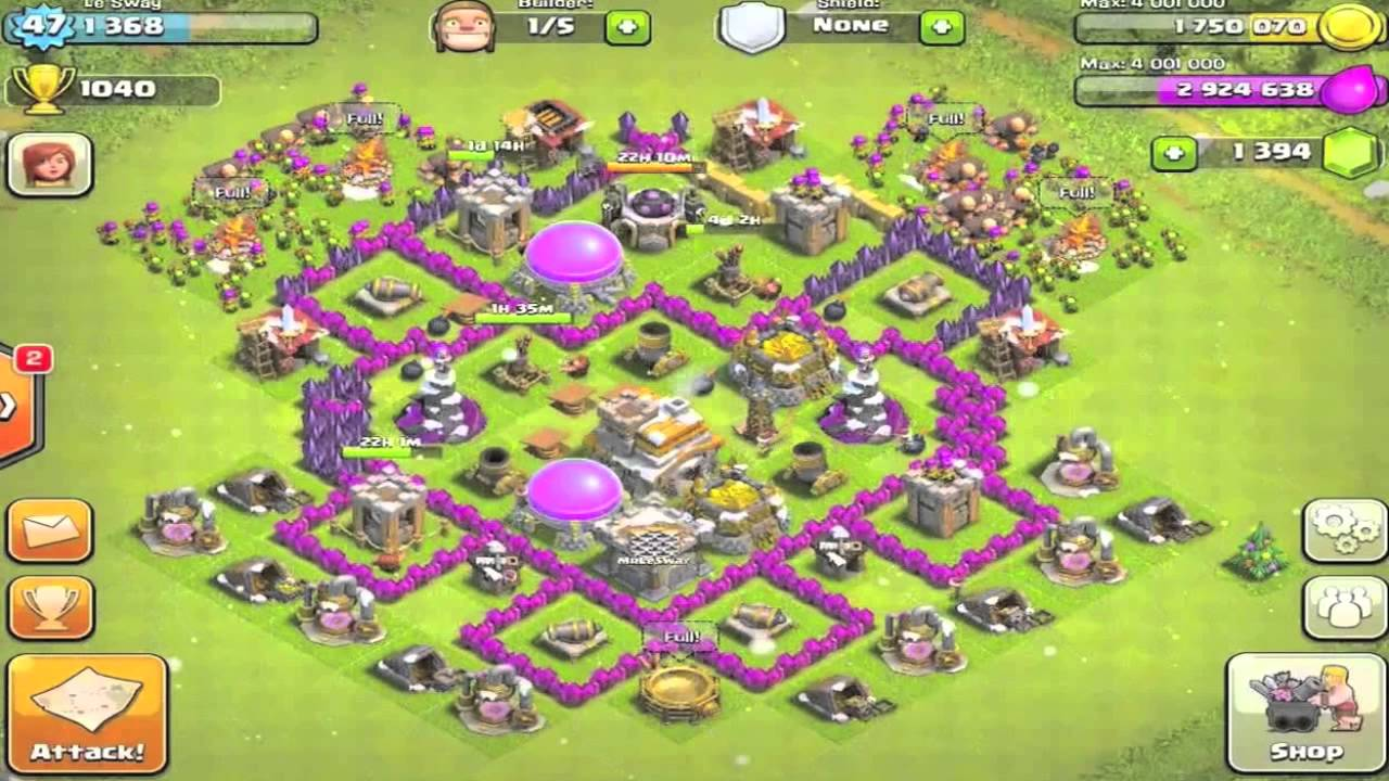 Clash of clans town hall level 7 base redesign youtube