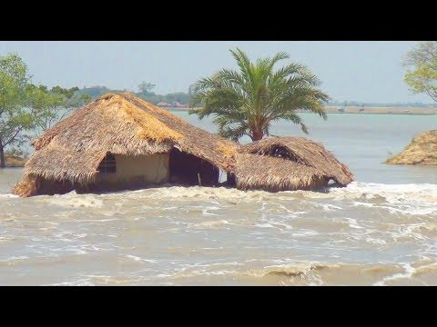 River Flood In Bangladesh :: See How The River Broke The Road In The Flood Waters :Natural Disasters