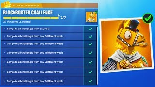 "NEW ""BLOCKBUSTER"" SKIN REVEALED in Fortnite! - ALL BLOCKBUSTER CHALLENGES! (Fortnite Battle Royale)"