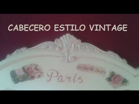 Cabecero estilo vintage youtube - Como tapizar un cabecero ...