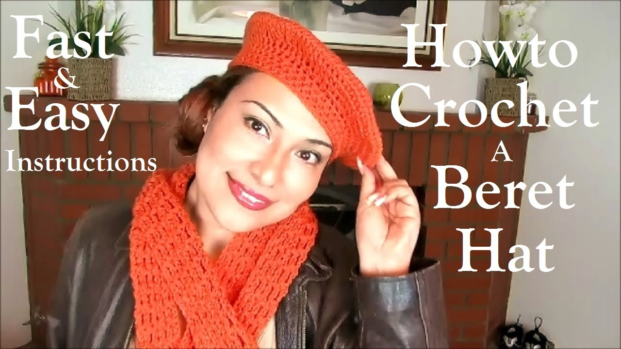 Howto Crochet A Beret Hat Youtube