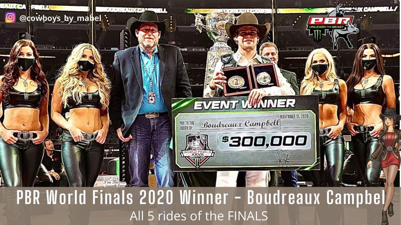 PBR World Finals Winner and Rookie of the Year Boudreaux Campbell