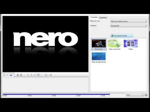 Descargar NERO VÍDEO y CONVERTIR video en formato DVD 2017
