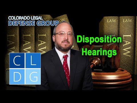 What is a disposition hearing in Colorado?