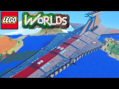 LEGO Worlds - LEGO Land Building SKY BASE, TOWN HALL, SPACE SHIP & More! #4 (LEGO Worlds)