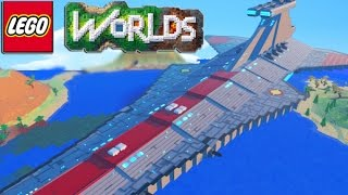 One of Team Ryan's most viewed videos: LEGO Worlds - LEGO Land Building SKY BASE, TOWN HALL, SPACE SHIP & More! #4 (LEGO Worlds)
