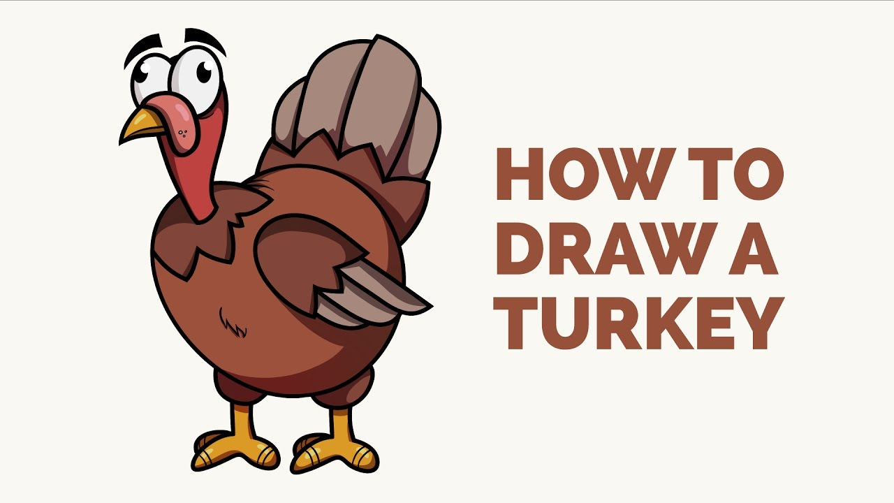 Uncategorized Turkey Cartoon Drawing how to draw a turkey easy step by drawing tutorial youtube tutorial