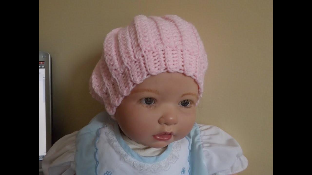 Crochet gorro para beb con ruby stedman youtube - Gorro piscina bebe ...