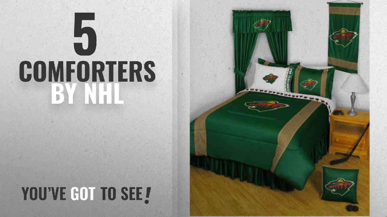 Top 10 Nhl Comforters 2018 Minnesota Wild Comforter Set 3 Pc Queen Hockey Bedding