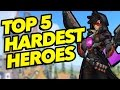 Top 5 Hardest Heroes to Play in Overwatch