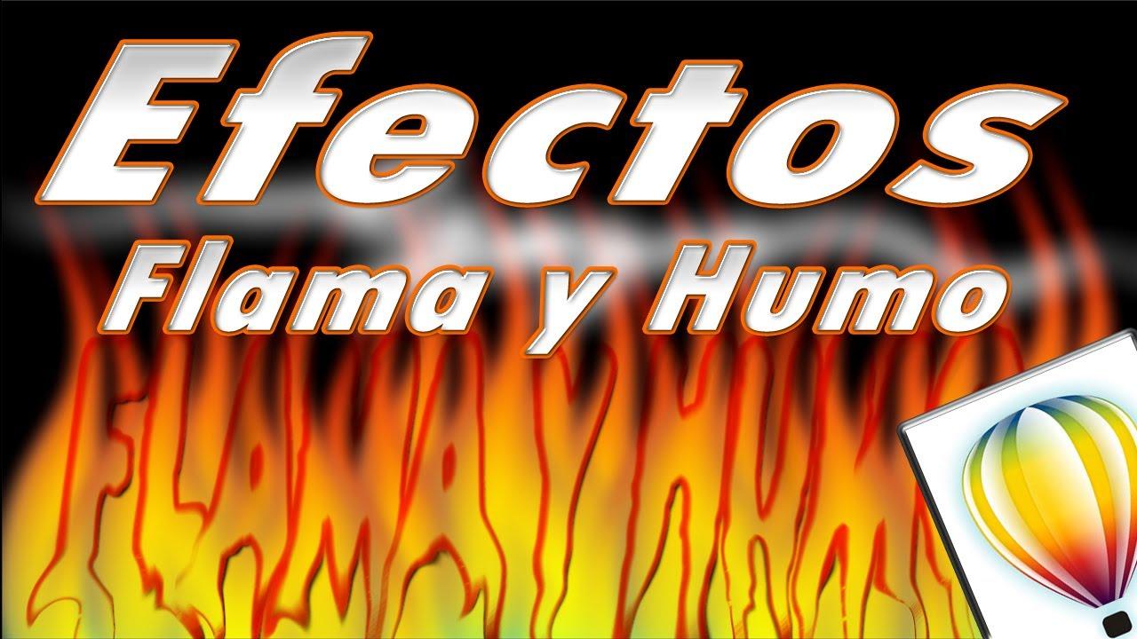 tutorial coreldraw efectos de flama y humo youtube
