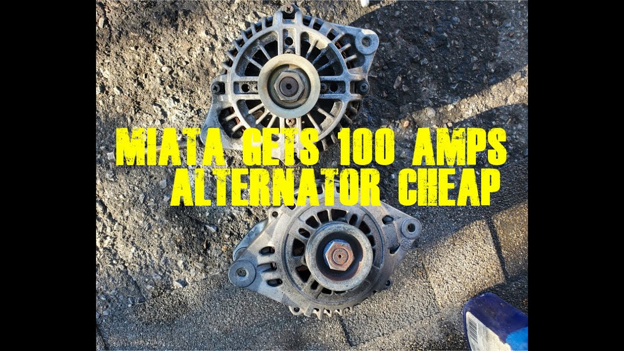 Miata Speed (NB) Gets a 100 Amps Alternator Upgrade for Cheap (Rx7 FD)
