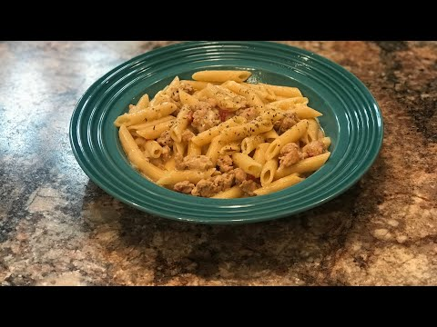 Easy Crockpot/ Pasta And Italian Sausage Meal