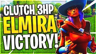 CLUTCH 3HP Impossible Victory Royale! - Fortnite Elmira Wizard Skin Solo Victory Royale Gameplay!