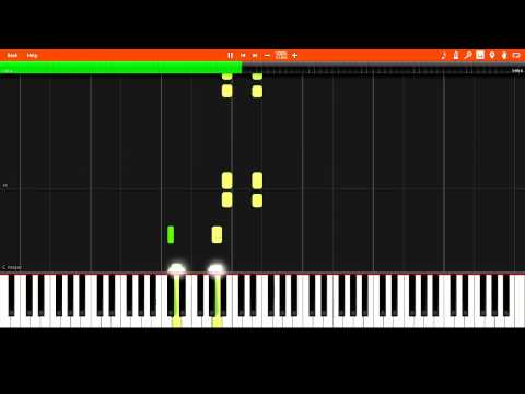 ACDC - Highway to Hell EASY Synthesia Piano Tutorial