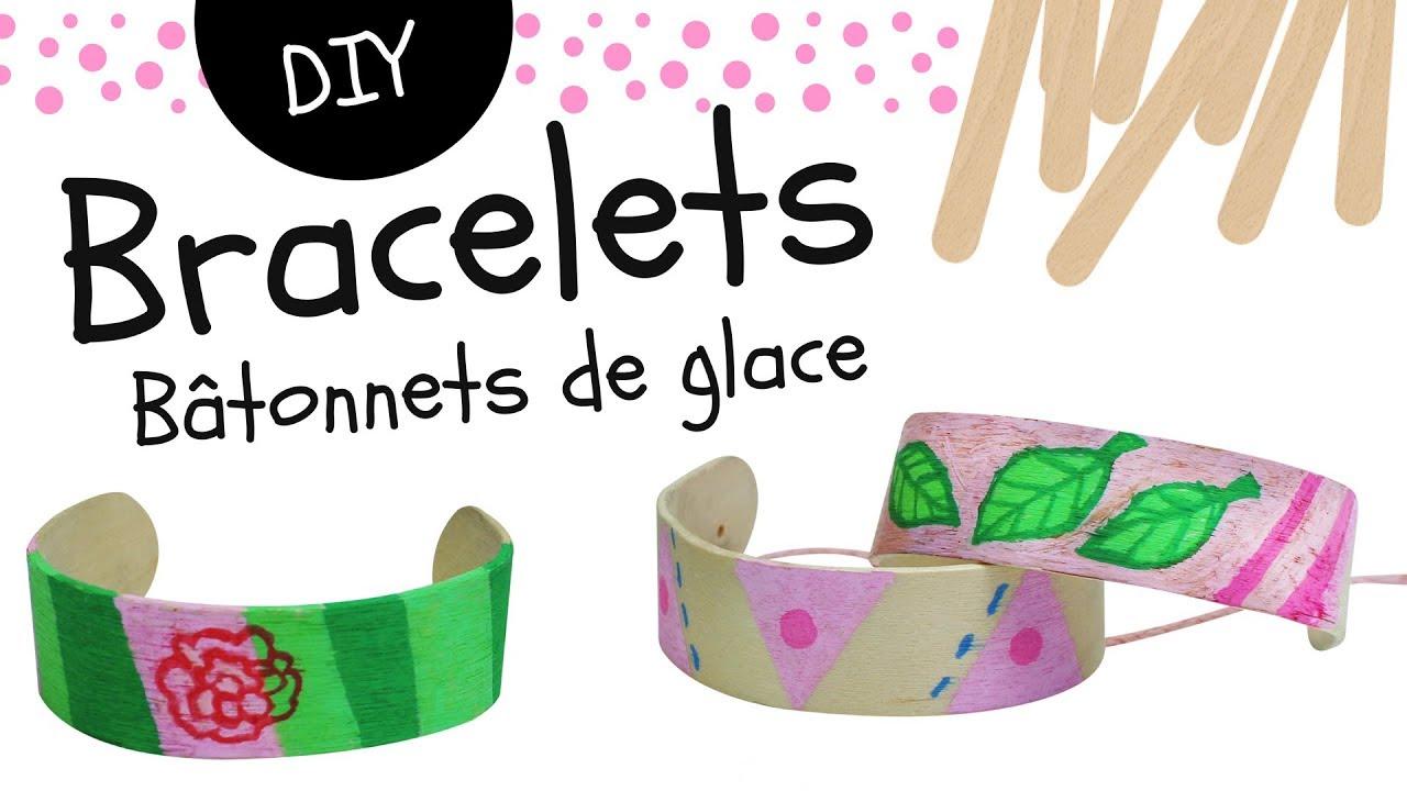 fabriquer un bracelet avec des b tonnets de glace en bois bricolage facile pour enfants youtube. Black Bedroom Furniture Sets. Home Design Ideas