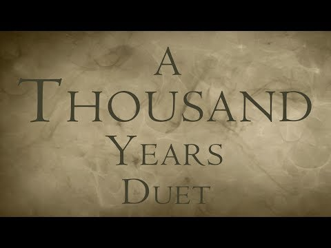 """""""A Thousand Years"""" SubsonicFire & Blixemi - Duet Typography"""
