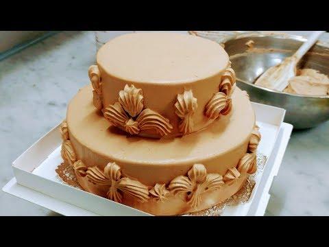 2段チョコケーキの作り方 バースデーケーキ Two tier chocolate cake - birthdaycake