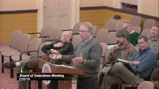 Board of Selectmen 2/26/18
