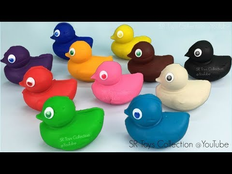 Play Dough Ducks with Shapes Cookie Cutters