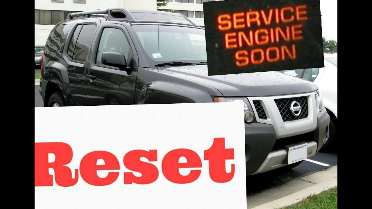 Service Engine Soon Light Nissan Xterra