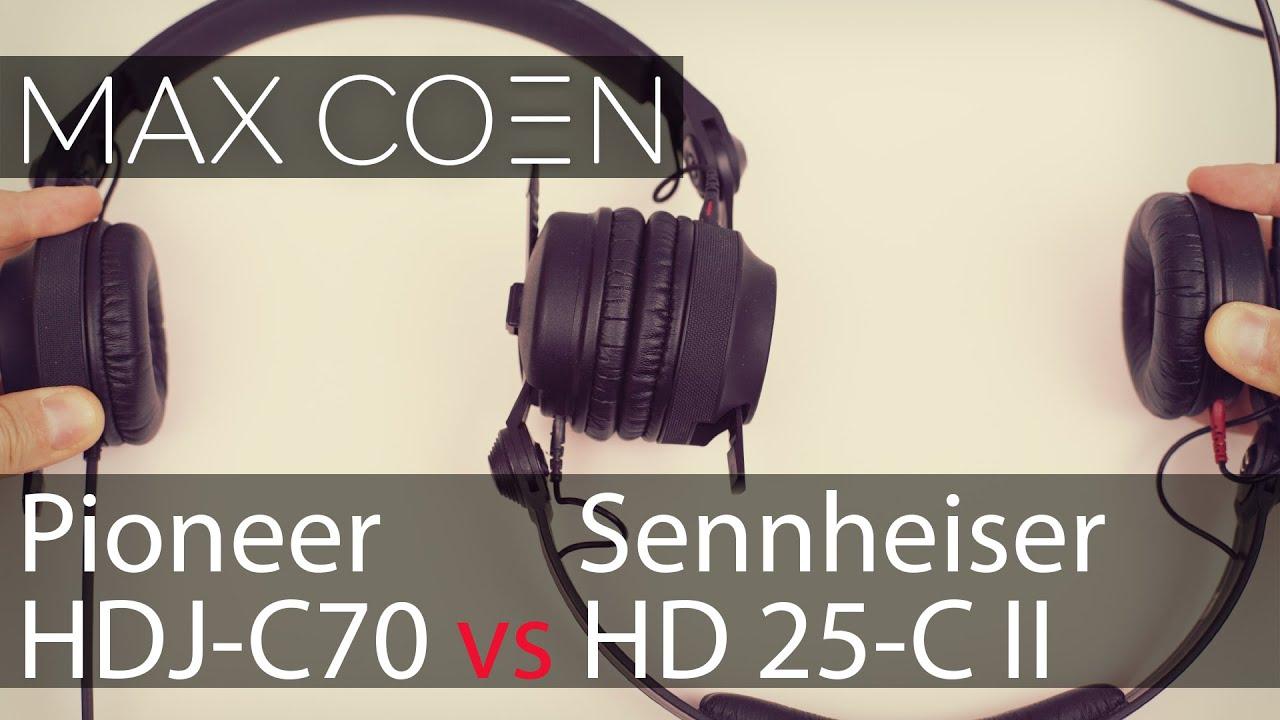 Сравнение Pioneer HDJ-C70 vs Sennheiser HD 25-C II - YouTube a7407fae4a