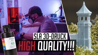 SLA 3D-Druck: HAMMER QUALITÄT mit FLÜSSIG-HARZ?! (Elegoo Mars Review)