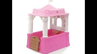 Let's Play Step2 Company Princess Castle Playhouse By 4 & 3 Year Old Child
