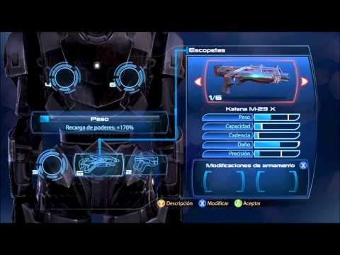 Mass Effect 3 Mejora un arma al maximo nivel 10