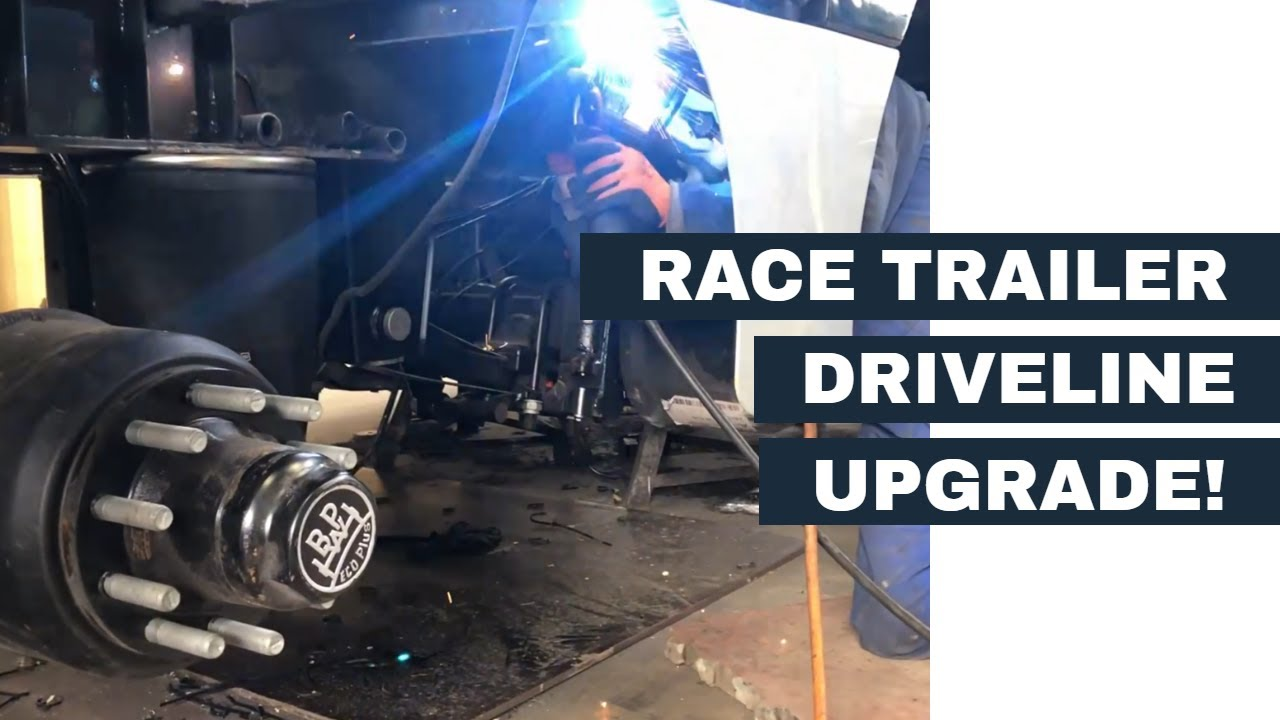 Upgrading our race trailer driveline with new BPW Eco Plus alxes!