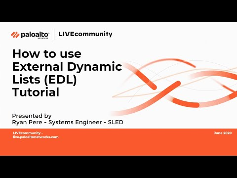 How to configure EDL (External Dynamic List) - Palo Alto Networks