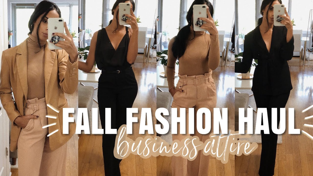 [VIDEO] - FALL FASHION HAUL   Wear To Work Outfits - Business Attire 4