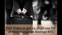 24 Hour Luggage Storage NYC | Shopping Bags Also