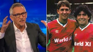 Gary Lineker pays triḃute to old rival Diego Maradona after death of the Argentina legend