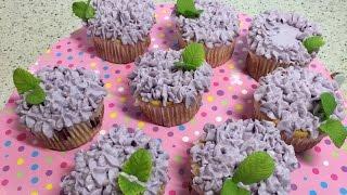 Диетические ягодные капкейки. Кексы творожные без сахара и муки.