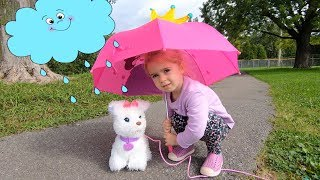 Learn Umbrella Colors with Rain Rain Go Away Song Nursery Rhymes and Educational Video for Kids Baby