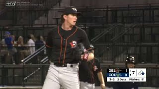 Delmarva's Baumann fans eiġhth batter of the night