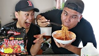CRAZY FIRE NOODLE CHALLENGE!! (WORLD'S HOTTEST NOODLES)