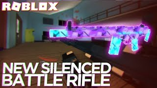 Trying the NEW SILENCED BATTLE RIFLE in PHANTOM FORCES (Roblox)
