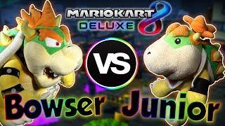 ABM: LIKE FATHER LIKE SON !! Bowser Vs Bowser Jr !! Mario Kart 8 Deluxe Match !! Race & Battle !! HD