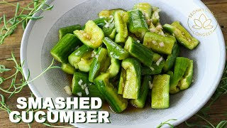 Chinese SMASHED Cucumber Salad at Home | Refreshing Side Dish for Any Meal