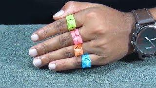 কাগজের তৈরি সুন্দর আংটি খুব সহজেই বানিয়ে নিন - how to make origami ring