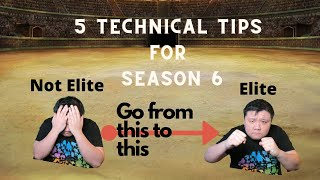 5 TECHNICAL TIPS TO HELP YOU IMPROVE FOR SEASON 6 | GO BATTLE LEAGUE