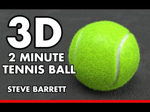 MODO: 2 Minute 3D Photorealistic Tennis Ball - Procedural Modeling - Plus Fur Shader (2018)