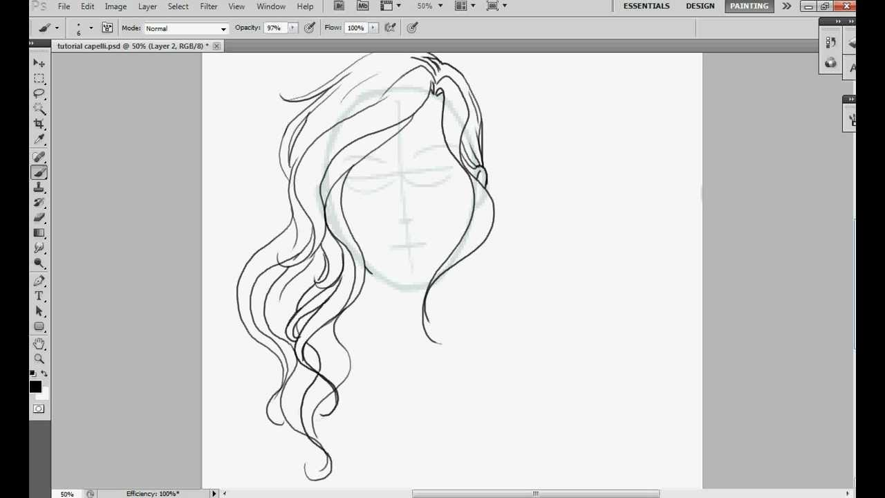 draw wavy hair