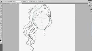 How I draw wavy hair