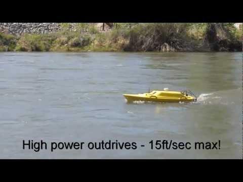 Oceanscience Z-Boat 1800 Hydrographic Survey Boat Single Beam CEEDUCER Pro 200kHz