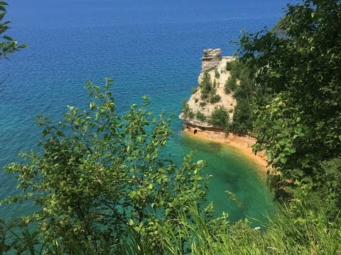 Virtual jog to Miners Castle - Scenic upper peninsula hiking trail run