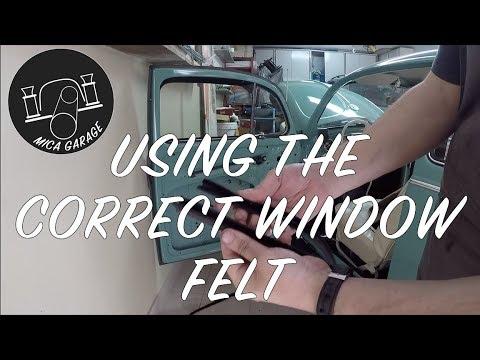 VW BEETLE - Window Felts Installation - DIY - How to - Part 2 - Correct window felt #beetle