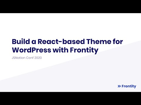 Build a React-based Theme for WordPress with Frontity